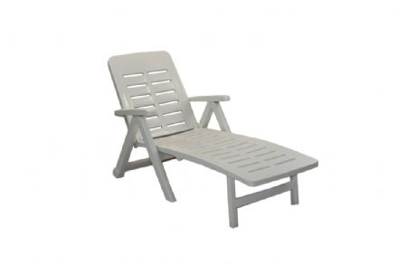 SupaGarden Plastic Lounger - White